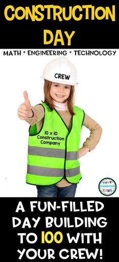 """Welcome to the 10x10 Construction Company!  Your crew will love these exciting math, engineering, and technology """"jobs"""" (centers) that focus on numbers to 100.  Lots of common core-based activities, printables, and ideas to engage your students!"""