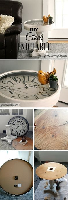 The best DIY projects & DIY ideas and tutorials: sewing, paper craft, DIY. DIY Furniture Plans & Tutorials : Check out the tutorial: Clock End Table /istandarddesign/ -Read