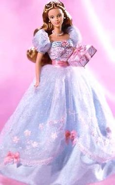 Look at this wonderful Birtday Barbie. How do you like it?