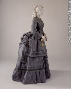 fashionsfromhistory:  Dress c.1870-1873 McCord Museum