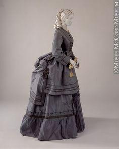 fashionsfromhistory:  Dress c.1870-1873 McCord Museum