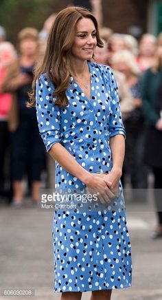 Catherine Duchess of Cambridge arrives at Stewards Academy on September 16 2016 in Harlow England The Duke and Duchess of Cambridge are visiting...