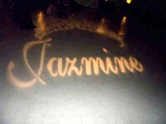 Her name and tiara...in lights