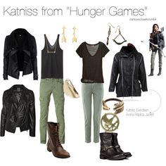 """""""Katniss from """"Hunger Games"""""""" by bforbel on Polyvore"""