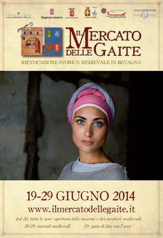 Italia Medievale: Il Mercato delle Gaite a Bevagna (PG) dal 19 al 29 giugno 2014
