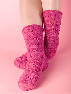 Wildflowers Socks Pattern - Free Knitting Patterns by Kerin Dimeler- Laurence