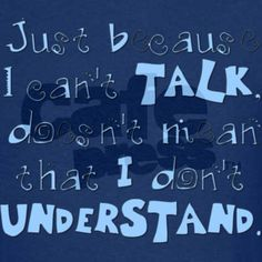 This is so true for my son. He may not always use words, but he DEFINITELY knows what is being said to him.