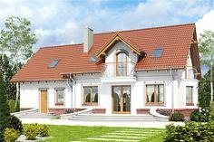 projekt Dom Dla Ciebie 5 z garażem 2-st. [A1] WRF1903 Design Case, Home Fashion, Sweet Home, House Design, Mansions, House Styles, Home Decor, Houses, Modern