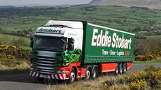 My wife loves spotting the names of #EddieStobart trucks where ever we go... (Eddie Stobart Truck picture owned by BBC: I claim no rights)