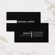 Plain Black Elegant Modern Magnolia Business Card - makeup artist business customize diy