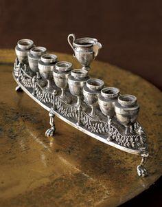 Antique Silver Menorah