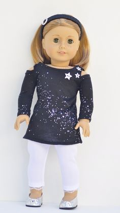 American Girl doll clothes cold shoulder top by OneGirlsDream, $30.00 (Suzy M pattern?)