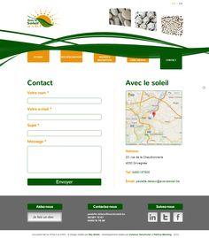 """Site """"Avec le soleil"""" - Page Contact"""