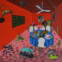 Eduardo Bessa: The big round blue table...