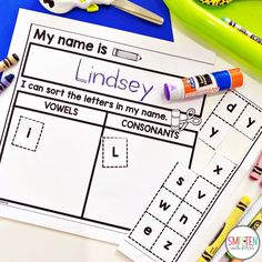 Editable Name Worksheets to practice reading, tracing, and writing names