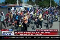 Motoristas Marchan En Montecristi En Contra De La Ley Que Regula Transporte