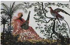 Polish Art postcard Eljasz Radzikowski La Mandolinata/mandolinist RARE piece Maine, Moose Art, Art Deco, Fine Art, Illustration, Piece, Ct, Painting, Animals
