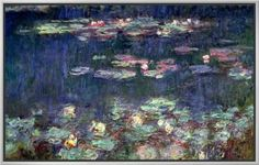 Waterlilies: Green Reflections, 1914-18 (Right Section) - Monet
