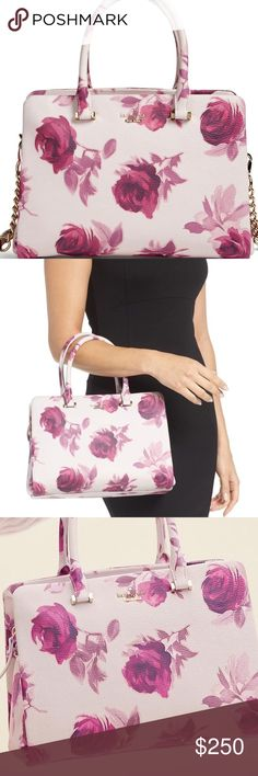 Kate spade 🌹 Emerson *BEST OFFER FEEL FREE TO MAKE AN OFFER! (: The purse looks more lavender the lighting is deceiving (I bought it online and thought it was white. It wasn't it's more like a lilac/ lavender) Like new the cross body strap was to short for me and I can't wear it as a cross body (original pictures coming soon) kate spade Bags Shoulder Bags