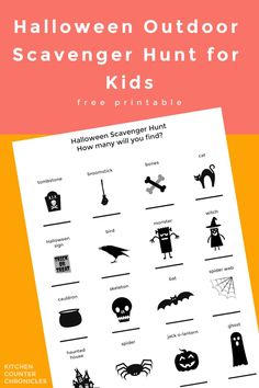 Who will find the most witches? Or, the most tombstones? Have fun with this printable outdoor Halloween scavenger hunt. Tally up everything you find and see who can find the most items in the hunt! #outdoorscavengerhunt #halloweenscavengerhunt #freeprintable #scavengerhuntforkids Rainy Day Activities For Kids, Halloween Scavenger Hunt, Scavenger Hunt For Kids, Halloween Games For Kids, Halloween Activities For Kids, Toddler Halloween, Outdoor Halloween, Kid Activities, Halloween Fun