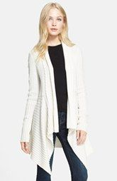 autumn cashmere Open Front Knit Cardigan