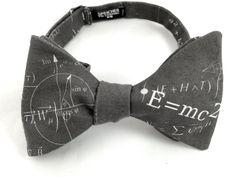 Einstein Physics Charcoal Bow Tie - bowtie, bow ties, bowties, geek, nerd, geeky chic, nerdy, math, physics, science, scientist, cool, fun by SpeicherBowTieCo on Etsy https://www.etsy.com/listing/219677927/einstein-physics-charcoal-bow-tie-bowtie
