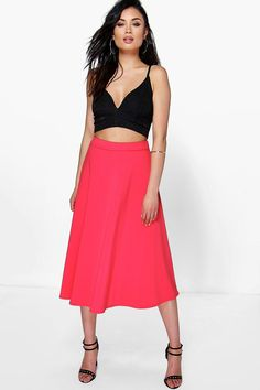 Arianna Plain Full Circle Midi Skirt