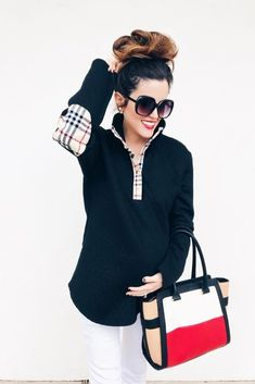 Shop Jess Lea Boutique The Landry Quilted Plaid Pullover - PREORDER  #jesslea #jessleaboutique #jessleastyle #casualstyle #momstyle #casualoutfit #easyoutfit #ootd #boutique #boutiquestyle #pullover #fallfashion #fallinspo #fallstyle #comfystyle