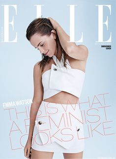 In the light of the recent 'HeForShe' campaign driven by the Queen of young acting talent Emma Watson, Elle magazine smartly moved in to secure an interview and photo-shoot for their aptly named 'Feminism Issue'. Celebrity Red Carpet, Celebrity Style, Emma Watson Feminism, Emma Watson Elle, Ema Watson, Style Magazin, Femmes Les Plus Sexy, Current Fashion Trends, Elle Magazine