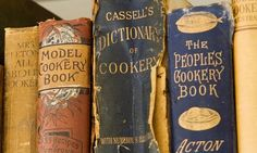 Just a beautiful photo of old cookbooks.