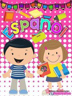 Portada español Victoria School, Dj Inkers, Board Decoration, Aesthetic Stickers, Classroom Door, Home Schooling, Ideas Para, Hello Kitty, Homeschool
