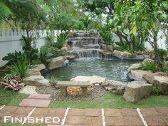 Top 17 Brick & Rock Garden Waterfall Designs – Start An Easy Backyard Decor Project - Easy Idea (19)