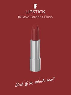 IF | Lipstick in KEW GARDENS FLUSH Discover more on wemakeup.it/#if