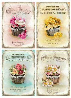 Decoupage Vintage, Vintage Diy, Vintage Labels, Vintage Paper, Vintage Postcards, Vintage Images, Printable Labels, Printable Paper, Etiquette Vintage