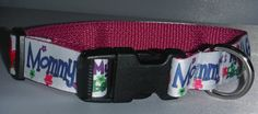 """If your dog is your constant companion and shadow this may be the collar for you! """"My Heart Belongs to Mommy"""" is a bright and colorful statement on this eye pleasing collar!    A black buckle and adjustment glide are complimented with a metal D ring.     If you would like this collar in another size or style, please message or email us and we will be happy to create the collar to your liking.   Shop this product here: http://spreesy.com/AllPawstive/158   Shop all of our products at…"""