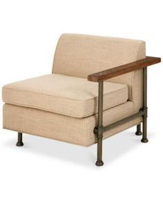Atlanta Corner Chair, Quick Ship - Tan/Beige