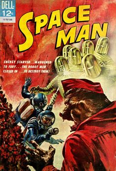 Comic Book Cover For Space Man #4
