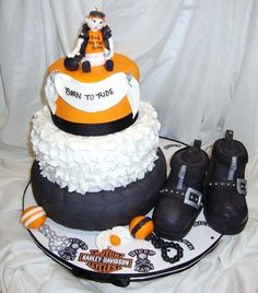 Harley davidson ceiling fan httpamazondpb001eh1tl2ref harley davidson baby shower i was asked to make a harley davidson motorcycle themed baby shower cake and the entire design was left up to mozeypictures