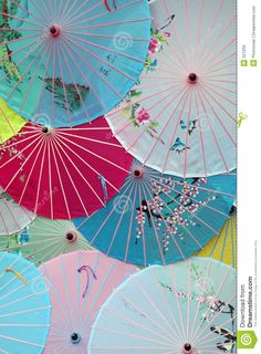 Decorate with Japanese umbrellas. Colorful Umbrellas, Paper Umbrellas, Umbrella Art, Under My Umbrella, Japanese Culture, Japanese Art, Umbrella Photography, Asian Artwork, Parasols