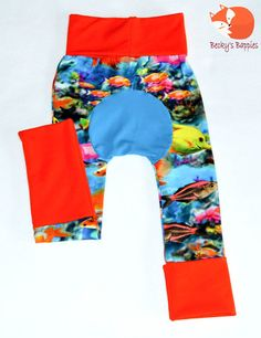 Fish Maxaloones Grow with me Pants Size by BeckysBappies