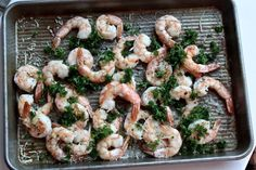 Roasted shrimp low FODMAP style! Garlic infused oil, lemon, crushed red pepper flakes, parsley and Parmesan! (you're welcome!)