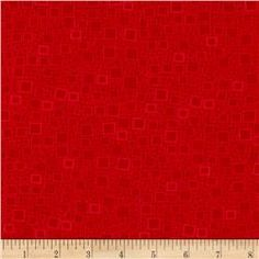 Contempo Anything Goes Squares & Dots Red