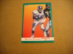 Michael Brooks Denver Broncos LB Card No. 44 (FB44) 1991 Fleer Football Card - for sale at Wenzel Thrifty Nickel ecrater store