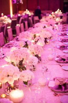 Romantic Kings table setting using Preston Bailey table linen through @eventsbynadia and florals by @oliviamaiolo