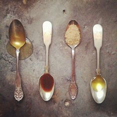 #ingredients on incredible vintage spoons - bring the past into the present with your cooking! Be inspired!