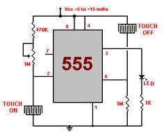 Touch Switch circuits - Circuitos de sensor de toque