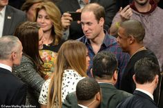 Catherine, Duchess of Cambridge and Prince William meeting Jay-Z and Beyoncé  in NYC. December 8, 2014.