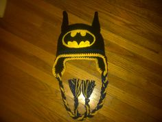 Batman Hat Crocheted