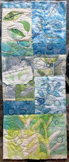 on a clear day ~ art quilt by janelafazio,   Http://JaneLaFazio.com