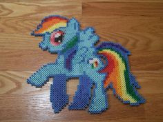 Rainbow Dash My little Pony perler beads by simplyputmyself on deviantart